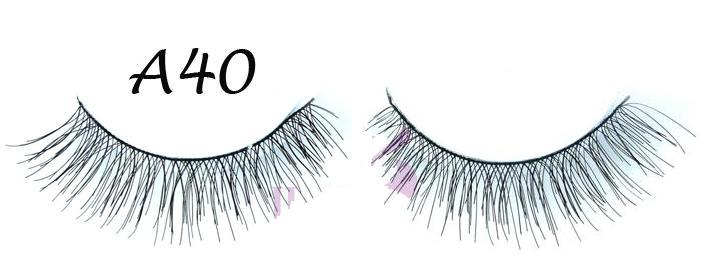 Fashion Real Full Black Hand Made Lashes With Flirty Curl #A40