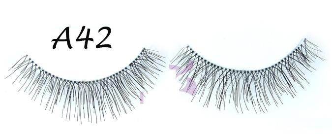 Fashion Full Black Hand Made Lashes With Flirty Curl #A42